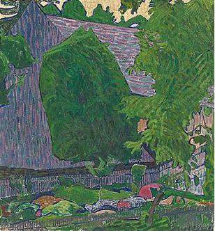 Cuno Amiet, Bauerngarten, um 1907