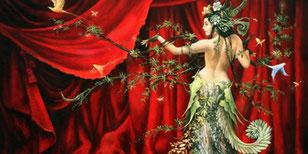 La danseuse-huile sur toile 65*50