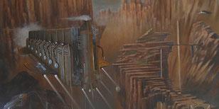 Le Paassage Etroit-Huile sur toile- 80*60 (détail)
