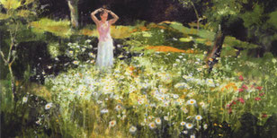 Fleurs sauvages-acrylique sur toile 100*73