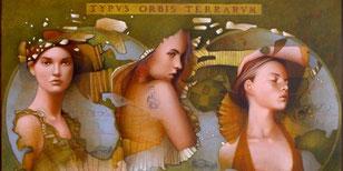 Dans le filet du monde (Grande Mélancolie)-huile sur toile 114*146