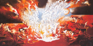 Hommage à Victor Hugo -Acrylique sur toile 190*115
