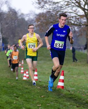 Gut taktiert ist halb gewonnen: Jan-David Ridder benötigte nur 13:09 Minuten für die 3,5 km lange Crossstrecke.