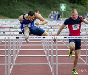 David Klöckner (links) beendet seine Leichtathletik-Laufbahn aus beruflichen Gründen. (Foto: Jan-Hendrik Ridder)