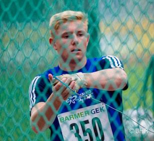 Luis Deutmeyer ist mit einer Saisonbestleistung von 50,55 Metern für den Hammerwurf gemeldet.