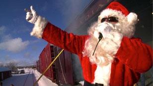 Auch Santa Claus fährt mit der Eisenbahn quer durch Kanada