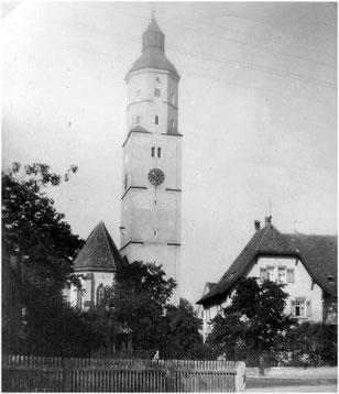 Die Martinskirche, Wahrzeichen der Stadt Langenau