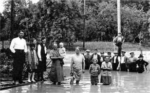 Hochwasser in Sickingen am 04. Aug. 1931