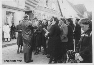 Glockenweihe Kirchenchor 1951