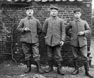 Soldaten aus dem 1. Weltkrieg im Winter