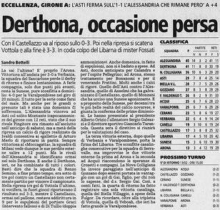 2004-05 DERTHONA - CASTELLAZZO 3-3