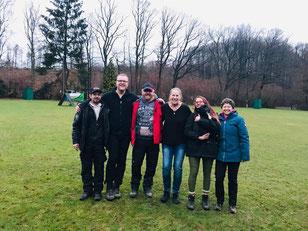 von links nach rechts /Frank Meyer, Andreas Baum, Heinz Bonaventura, Marita Biewer, Alex Bonaventura, Daniela Meyer