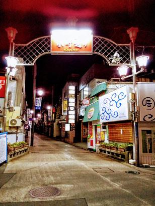 鎌倉小町通り 夜