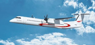 Even Bombardier's Q400 turboprops might see a second life as freighters  /  source: Bombardier
