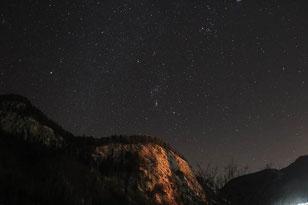 Foto: Gerald Reiser, Sternbilder: Orion, Stier und kleiner Hund, Aufgenommen in Reit im Winkl