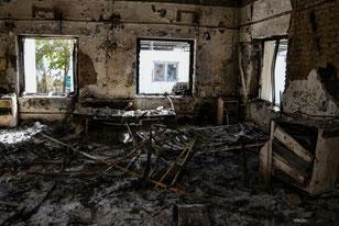 Hospital de MSF en Kunduz tras el bombardeo © Foto: Dan Sermand/MSF