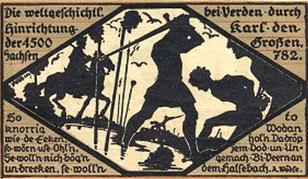 Hinrichtung der 4500 Sachsen durch Karl den  Großen 782 in Verden; Wikimedia, gemeinfrei