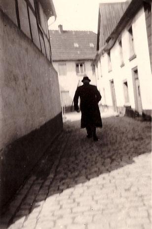 Historische Aufnahme der Bleichergasse in Attendorn