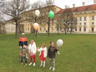 Zwei Tage Ballonstarts zwischen altem und neuem Schloß Schleißheim. Foto: PE