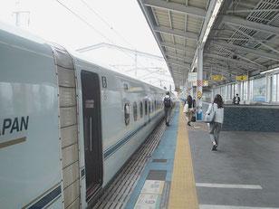 新幹線・福山駅のホーム