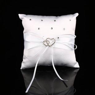 cuscino fedi quadrato bianco con strass