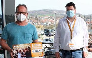 v.links: Alfred Erfurt, SF Güdesweiler, Mitarbeiter Globus