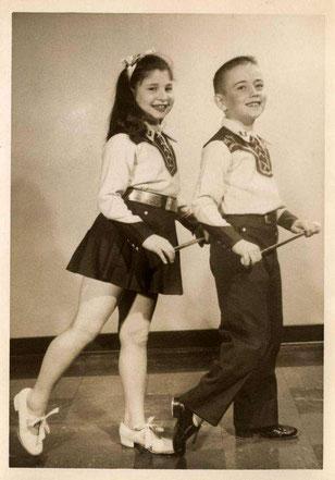 Adrette Steptanz-Kids in den 1950er Jahren