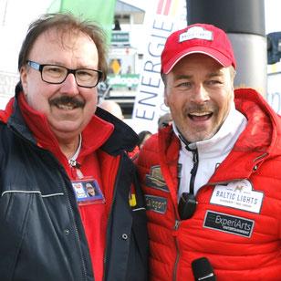 Unser langjähriger Rennleiter Wolf Dieter Polz mit Veranstalter Till Demtroeder. Foto: ExperiArts Entertainment- F.Krug