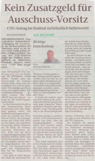 Artikel der Stimberg Zeitung vom 7.4.2017