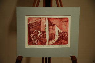 Secrets d'Orient - etching by Anne Berendt