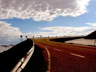 20 km Paßauffahrt zum Nordkap