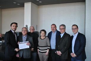 v.l: Hendrik Schmitz, Ludwig Zimmermann, Paul Rickes, Margarete Lindam, Frank Kortz, Heinrich Meyer und Thomas Schlenter