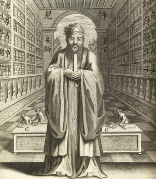 """""""Confucius, Philosopher of the Chinese, published by Jesuit missionaries at Paris in 1687."""""""