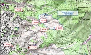 Carte des points de prélevements atmosphériques sur capteurs passifs (Radiello)