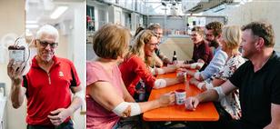 Gemeinsam Blut spenden macht Spaß und ist wirkungsvoll: Eine Konserve mit 500 Millilitern Blut rettet bis zu drei Menschenleben! (Bild: BSD)