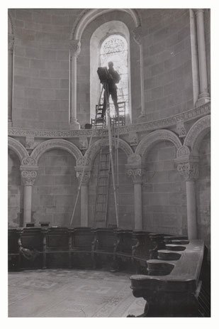 orthe, landes, sorde l'abbaye, aquitaine, france, eglise abbatiale, mosaique, occupation, allemand, photographe