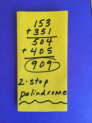 A Two Step Palindrome for Backward Day!