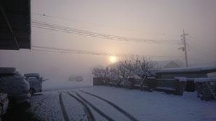 雪 太陽少し