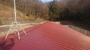 嵌合式立平葺き 施工画像 カラーガルバリュウム鋼板