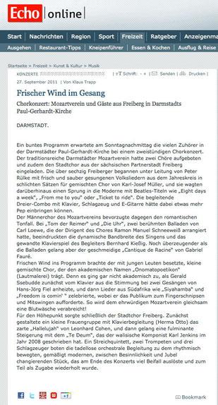 "27.09.2011, ""Darmstädter Echo"""