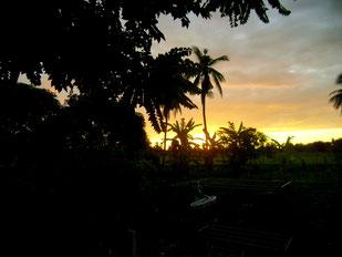 Sundown at Wang Pla Guesthouse, Kanchanaburi