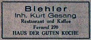 Anzeige von 1949