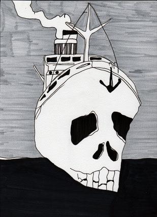 "frei nach Cover ""Das Totenschiff"" (c) Miriam Gil"