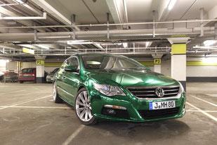 VW Passat CC - Chromgrün - übrigens einer der ersten in Deutschland mit Segen aller offiziellen Stellen