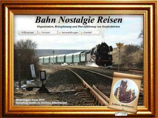 """Dampfzug """"Gräfin zu Schloss Altenhausen"""" - BNR-Sonderfahrt vom 26. bis 28. Februar 2010"""