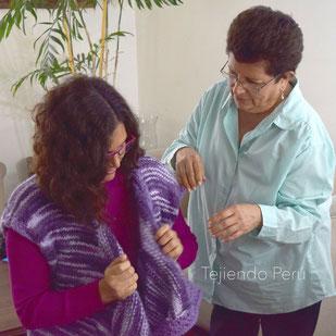 Cómo tejer un chaleco modelo ruana en dos agujas o palitos