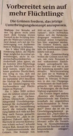 Artikel aus der Waltroper Zeitung (vom 04.03.2020)