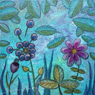 Blumentraum, Acrylbild von silvanillion