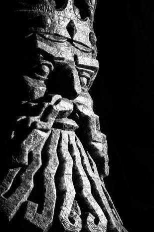 Particolare di una statua nella miniera di sale di Wieliczka, in Polonia.