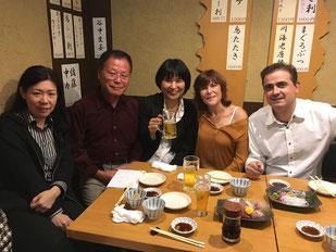 Akira, Tomoko, Juli, Jorge
